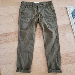 Loft Marisa Fit Cargo Ankle Pants Size 8